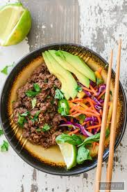 asian beef rainbow salad paleo gluten free a healthy life for me