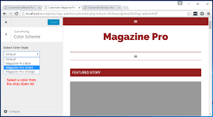 Website Color Schemes 2016 Changing The Color Scheme Of Altitude Pro Magazine Pro And