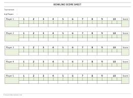 Ten Pin Bowling Sheet Template Bowling Sheet Freewordtemplates