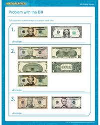 problem with the bill u2013 free counting money worksheet u2013 math blaster