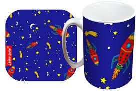 selina jayne rockets limited edition designer mug and coaster gift set