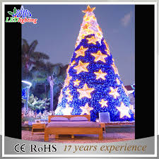 china artificial outdoor decoration led pvc christmas giant tree