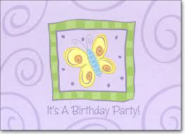 butterfly box of 25 birthday invitations by ps greetings