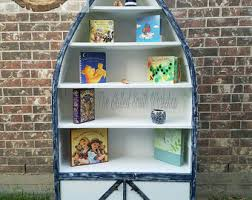 Canoe Bookcase Furniture Boat Bookshelf Etsy