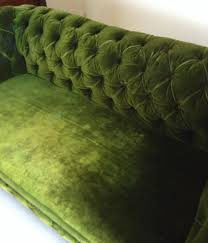 Victorian Chesterfield Sofa For Sale by Victorian Deep Buttoned Chesterfield Sofa In Deep Green Velvet