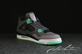 green glow 4 green glow air 4 retro sneakernews