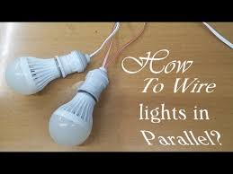 how to wire lights in parallel youtube