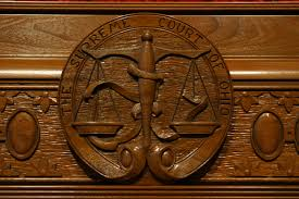 supreme court of ohio main courtroom bench seal the ohio channel