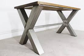 Stainless Steel Office Desk Industrial Desks Bespoke Vintage Style Office Uk Oak Steel