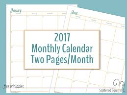 printable 2017 calendar two months per page printable 2017 calendar two months per page 2017 full size monthly