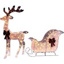 outdoor lighted reindeer christmas decoration sacharoff decoration