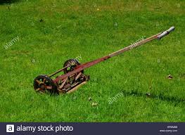 push lawn mower stock photos u0026 push lawn mower stock images alamy