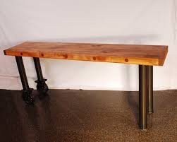 hand made butcher block console table by larue woodworking custom made butcher block console table