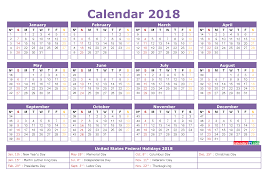 printable calendar template printable calendar 2018 with holidays full year 4 templates 2018
