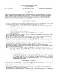 Project Resume Erp Project Manager Resume Resume Ideas