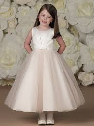 joan calabrese communion dresses joan calabrese sleeveless satin and tulle tea length flower girl