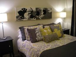 home design gray black and yellow bedroom color scheme grey