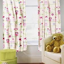 owl bedroom curtains owl and friends curtains 66 x 72 amazon co uk kitchen home