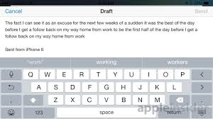 email keyboard layout iphone in depth review apple s 4 7 inch iphone 6 running ios 8 iphone