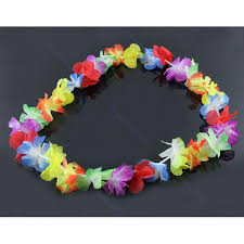 hair accessories malaysia 4 pcs set hawaiian party set flower garland necklace headband and