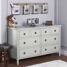 evolur julienne 6 double dresser linen grey toys