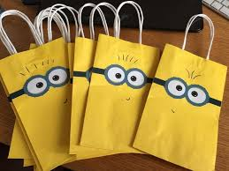 minion gift bags minion birthday party paper goodie bags parkerproductions