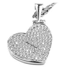 white gold hearts necklace images Louis vuitton diamond heart locket white gold pendant necklace at jpeg