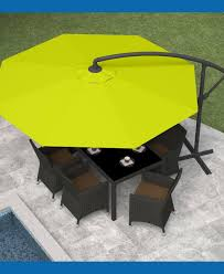 Replacement Outdoor Umbrella Covers by Rectangular Patio Umbrella Canopy Replacement Nucleus Home