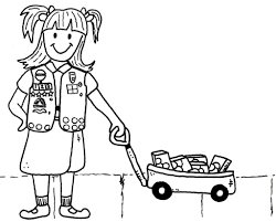scout valentine coloring pages kids at brownie printable
