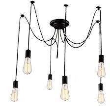 Lighting Fixtures Lemonbest 6 Head E27 Vintage Diy Ceiling Chandelier Light Fixtures