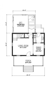 houseplans com cottage main floor plan living small house ideas