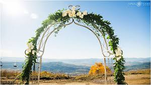 Wedding Arch Greenery Autumn Colorado Mountain Wedding Four Points Lodge Steamboat