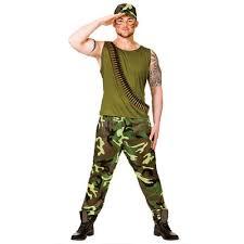Army Men Halloween Costume Adults Army Guy Man Fancy Dress Halloween Costume Xs Stock