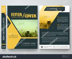 Newspaper Book Report Template Flyers Design Template Vector Brochure Report Stock Vector