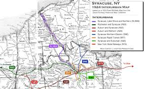 New England Area Map by New York State Syracuse Interurbans