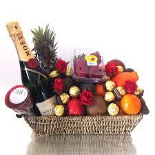 fruit basket moet champagne gift hamper chocolates youtube