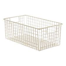 metal wire storage baskets u0026 bins storables