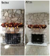 diy stone fireplace home design