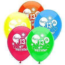 birthday balloons boy s 13th balloons birthday party decoration