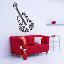 compare prices on home decor wall art stickers guitar online