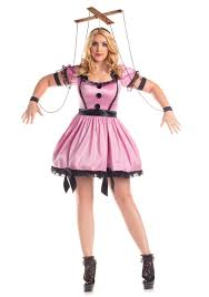 ventriloquist doll halloween costume women u0027s plus size pink marionette costume