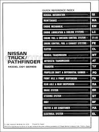 1987 nissan truck and pathfinder repair shop manual original