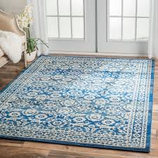 Area Rugs 9 X 12 Nuloom Traditional Persian Vintage Dark Blue Rug 9 U0027 X 12 U0027 Free