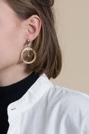 80s hoop earrings vintage 80s gold hoop earrings vaux vintage