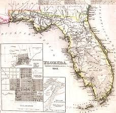 A Map Of Florida Lighthouse Books Abaa 1845 Florida Map Spanish Land Grants