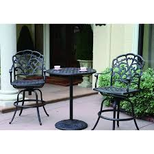 Counter Height Patio Dining Sets - shop darlee catalina 3 piece antique bronze aluminum bar patio