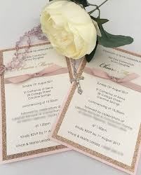 Holy Communion Invitation Cards Pink Shimmer First Holy Communion Invitation Over The Rainbow