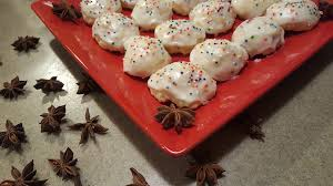 italian anise cookies with icing and sprinkles recipe genius kitchen