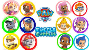 disney u0026 nick jr bubble guppies paw patrol learn colorstoy
