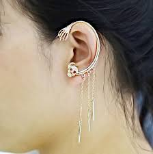 earrings on top of ear 2015 new ear clip cuff wrap earrings top grade skull design clip
